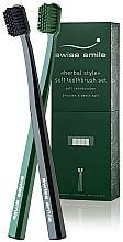Perfumería y cosmética Cepillos de dureza suave para dientes sensibles, 2uds. - Swiss Smile Herbal Bliss Two Toothbrushes