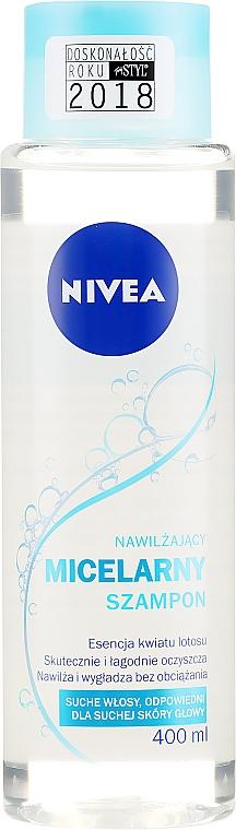 Champú micelar hidratante con esencia de flor de loto, sin siliconas ni parabenos - Nivea Micellar Shampoo