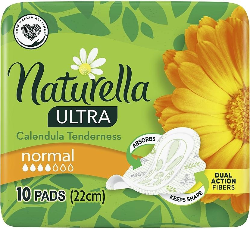Compresas con alas y caléndula, 10 uds. - Naturella Ultra Calendula Normal