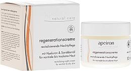 Perfumería y cosmética Crema facial regeneradora con aceites de naranja y uva - Apeiron Night Regeneration Cream