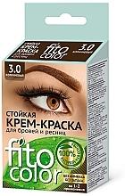 Perfumería y cosmética Fito cosmetic FitoColor - Tinte en crema para pestañas y cejas, sin amoníaco (oxidante incluido)