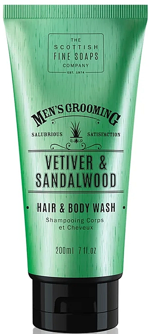 Champú y gel de ducha, Vetiver y sándalo - Scottish Fine Soaps Vetiver & Sandalwood Hair Body Wash