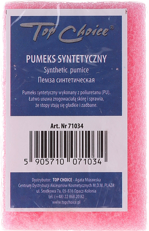Piedra pómez sintética de doble cara rosa, 71034 - Top Choice