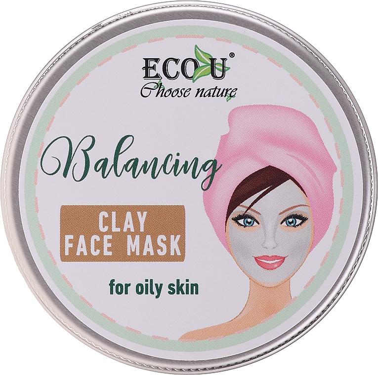 Mascarilla facial equilibrante con arcilla - Eco U Balancing Clay Face Mask For Oily Skin