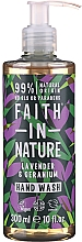 Perfumería y cosmética Jabón líquido orgánico con aroma a geranio y lavanda - Faith in Nature Lavender & Geranium Hand Wash