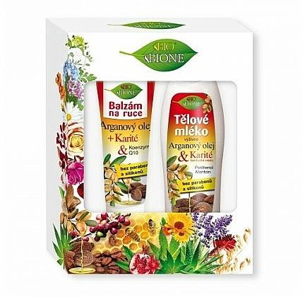 Set (bálsamo de manos/200ml + loción corporal/500ml) - Bione Cosmetics Argan Oil