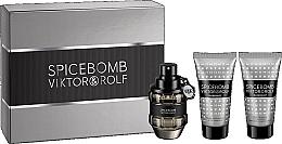 Perfumería y cosmética Viktor & Rolf Spicebomb - Set (eau de toilette/50ml + bálsamo aftershave/50ml + crema de afeitar/50ml)