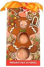 Perfumería y cosmética Bombas de baño infantiles con aroma a galletas de jengibre, 3uds. - Chlapu Chlap