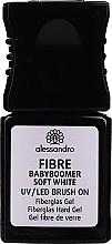 Perfumería y cosmética Gel de uñas de fibra de vidrio, UV/LED - Alessandro International Fiber UV/LED Brush On Fiberglass Hard Gel