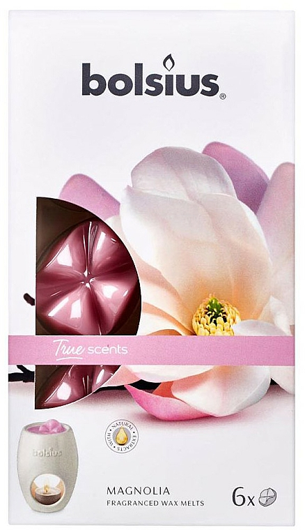 Cera aromática, magnolia - Bolsius True Scents Magnolia