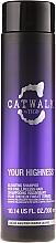 Champú con aceite de salvia y ácido salicílico - Tigi Catwalk Your Highness Elevating Shampoo — imagen N1