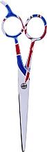 Perfumería y cosmética Tijeras profesional de peluquería, 5,5cm blanca - Ronney Professional White Flag London