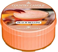 Perfumería y cosmética Vela de té con aroma a melocotón - Country Candle Peach Bellini Daylight