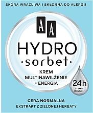 Crema facial tonificante con extracto de té verde - AA Hydro Sorbet Moisturising & Energising Cream — imagen N1