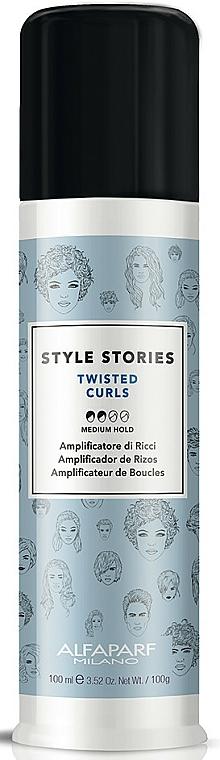 Crema definitoria y estilizadora para rizos de fijación media - Alfaparf Style Stories Twisted Curls Medium Hold