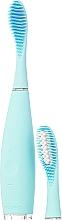 Perfumería y cosmética Cepillo dental eléctrico sónico de silicona con cabezal de recambio, azul - Foreo Issa 2 Sensitive Set Mint