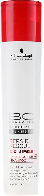 Champú reparador con aceite de ricino - Schwarzkopf Professional BC Bonacure Repair Rescue Shampoo — imagen N1