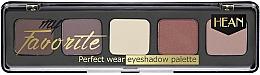 Perfumería y cosmética Paleta de sombras de ojos, 5 colores - Hean My favorite Eye Shadow Palette