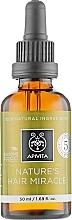 Perfumería y cosmética Aceite natural fortificante y energizante para cabello con aceites de oliva, lavanda y ricino - Apivita Nature's Hair Miracle