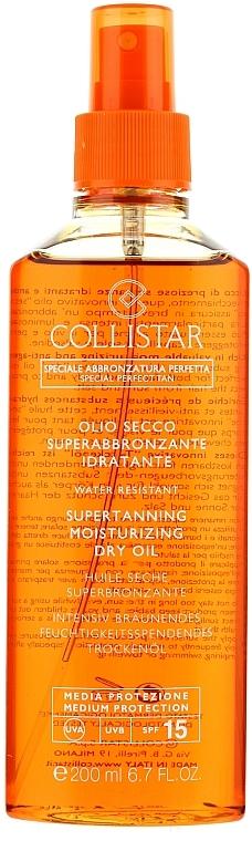 Aceite seco bronceador con protector solar para cuerpo - Collistar Supertanning Moisturizing Dry Oil SPF 15 — imagen N1