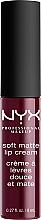 Perfumería y cosmética Labial cremoso mate - NYX Professional Makeup Soft Matte Lip Cream