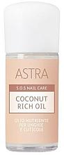 Perfumería y cosmética Aceite de coco para uñas y cutículas - Astra Make-up Sos Nails Care Coconut Rich Oil
