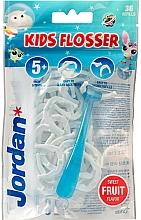 Perfumería y cosmética Aplicador de hilo dental con soporte y cabezales desechables - Jordan Kids Flosser (aplicador/1ud+cabezales/36uds)