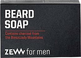 Perfumería y cosmética Jabón para barba con carbón - Zew For Men Natural Beard Soap