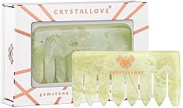 Perfumería y cosmética Peine de jade para masaje de cuero cabelludo - Crystallove