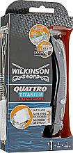 Perfumería y cosmética Maquinilla de afeitar 3en1 - Wilkinson Sword Quattro Titanium Precision