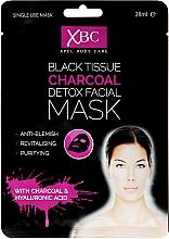 Perfumería y cosmética Mascarilla facial con carbón - Xpel Marketing Ltd Body Care Black Tissue Charcoal Detox Facial Face Mask