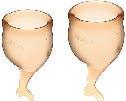 Perfumería y cosmética Copas menstruales, naranja, 2uds. - Satisfyer Feel Secure Menstrual Cups