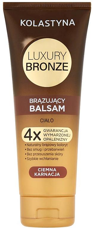 Bálsamo autobronceador para piel oscura con aceites de coco, karité y nuez - Kolastyna Luxury Bronze Tanning Balm