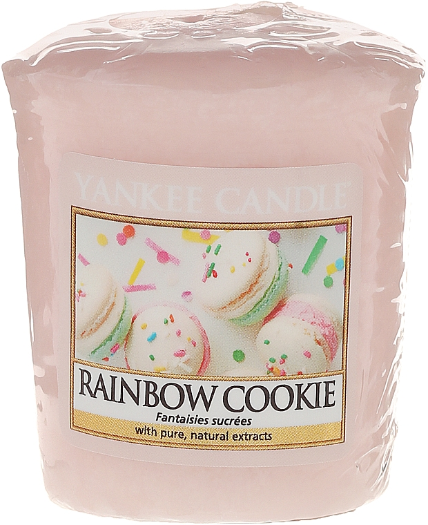 "Vela aromática votiva ""galletas arcoíris"" - Yankee Candle Rainbow Cookie Votive Candle — imagen N1"