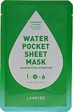Perfumería y cosmética Mascarilla facial calmante de algodón para pieles sensibles - Laneige Water Pocket Sheet Mask Skin Relief