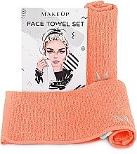 """Perfumería y cosmética Set toallas para rostro, melocotón """"MakeTravel"""" - Makeup Face Towel Set"""