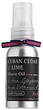 Perfumería y cosmética Bath House Cuban Cedar & Lime - Aceite de afeitar con cedro cubano & lima