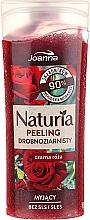 Perfumería y cosmética Gel de ducha exfoliante natural con extracto de rosa negra - Joanna Naturia Peeling