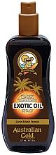 Perfumería y cosmética Spray-aceledor del bronceado con semilla de zanahoria - Australian Gold Dark Tanning Exotic Oil Spray