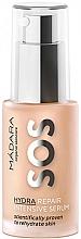 Perfumería y cosmética Sérum facial para pieles deshidratadas con extracto de peonia nórdica, linaza y ácido hialurónico - Madara Cosmetics SOS HYDRA Repair intensive serum