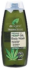 Perfumería y cosmética Gel de ducha natural con aceite orgánico de cáñamo y extracto de saúco - Dr. Organic Bioactive Skincare Hemp Oil Body Wash