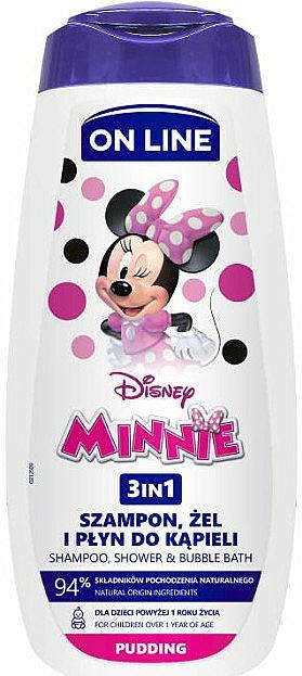 Champú y espuma de baño con aroma a pudín - On Line Kids Disney Minnie
