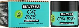 Perfumería y cosmética Parches para contorno de ojos natural con extracto de café, pepino y rosa mosqueta - Beauty Jar Liquid Eye Patches, Cool Eyes
