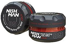 Perfumería y cosmética Cera moldeadora a base de agua, fijación fuerte - Nishman Hair Styling Wax 09 Cola