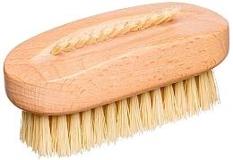 Perfumería y cosmética Cepillo ovalado para uñas y manos, fibra de cactus, beige - Miamed