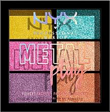Perfumería y cosmética Paleta de pigmentos para rostro y cuerpo - NYX Professional Makeup Metal Play Pressed Pigment Palette
