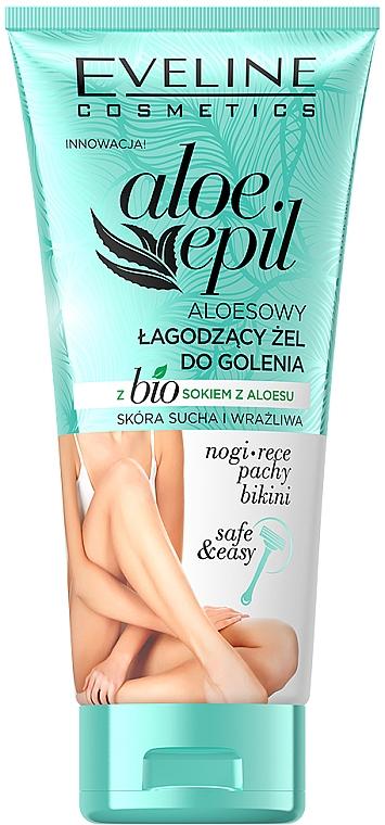 Gel de depilación para pieles secas y sensibles con aloe vera - Eveline Cosmetics Aloe Epil