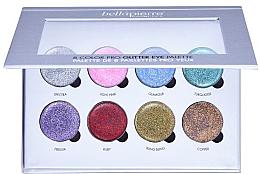 Perfumería y cosmética Paleta de purpurinas cremosas para ojos - Bellapierre 8 Color Pro Glitter Eye Palette