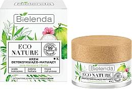 Perfumería y cosmética Crema facial natural con agua de coco, extracto de té verde y limoncillo - Bielenda Eco Nature Coconut Water Green Tea & Lemongrass Face Cream