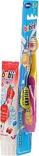 Perfumería y cosmética Set para limpieza bucal - Bobini 2-7 (cepillo + pasta dental-fresa/75ml)